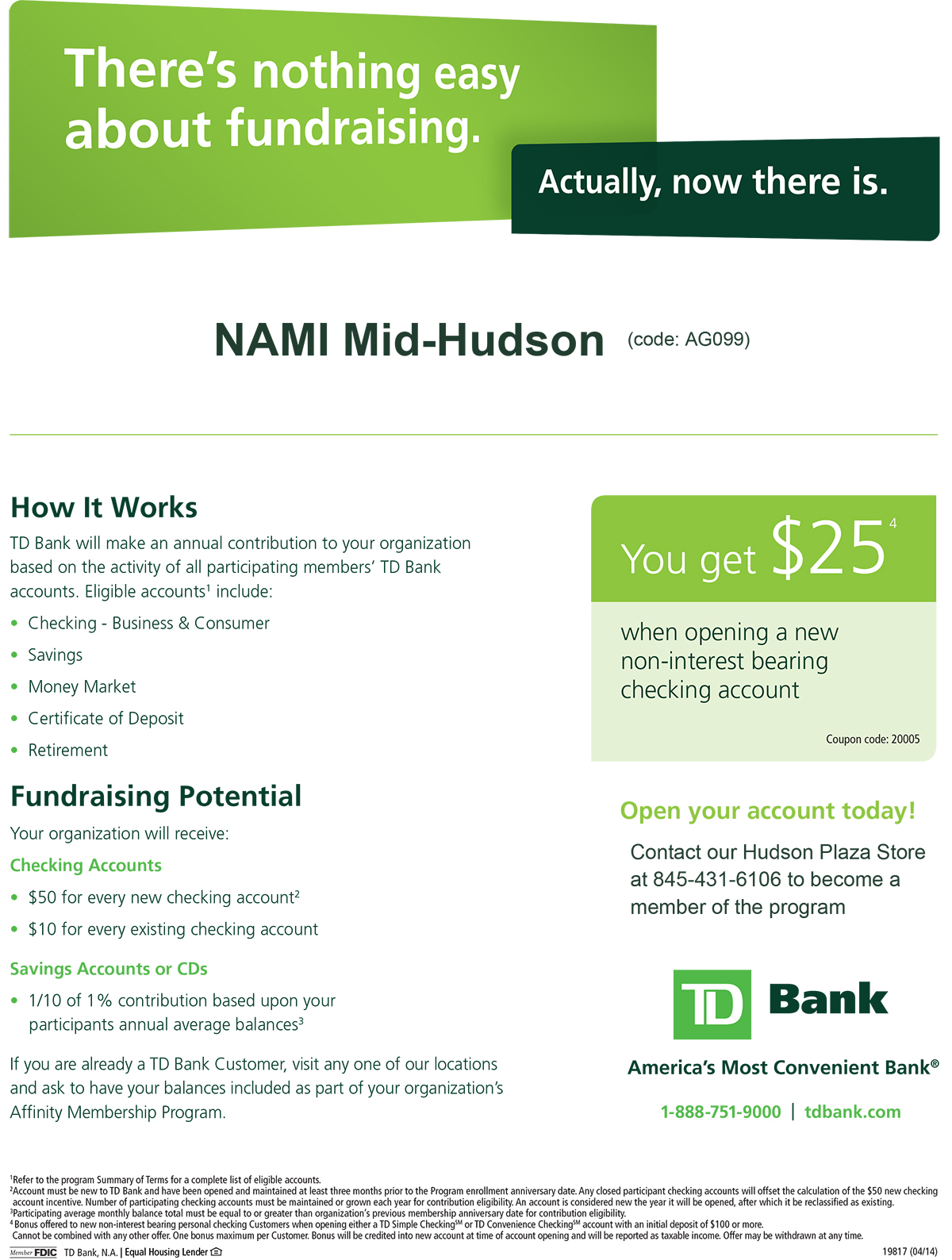 Td Bank Affinity Program Nami Mid Hudson